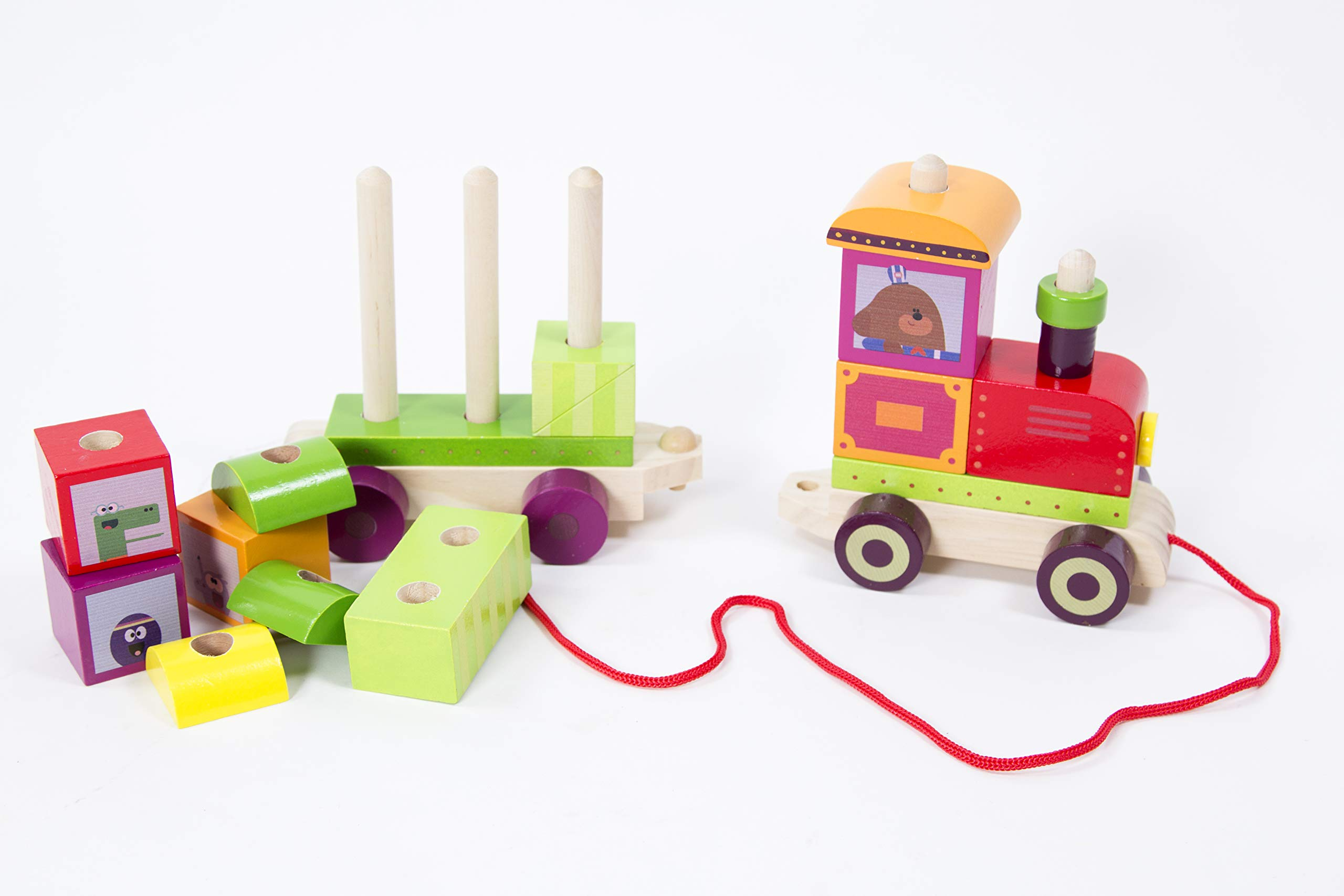 Multi Wooden Hey Duggee 9091 Stacking Train