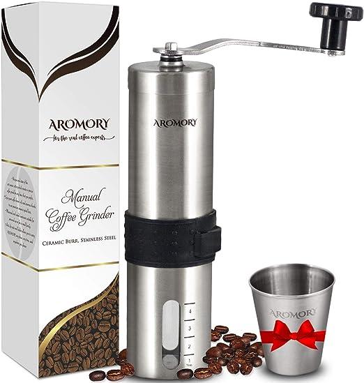 Molinillo manual para granos de café, molinillo cónico de cerámica ...
