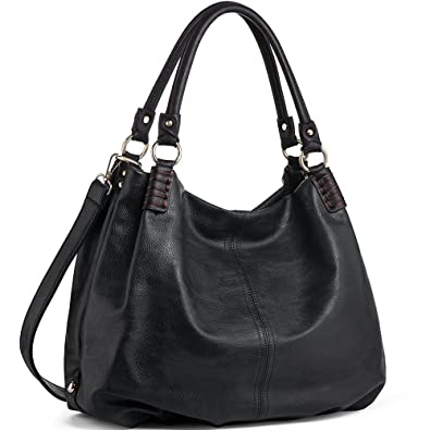 724e476185 Amazon.com  Handbags for women WISHESGEM PU Leather Fashion Double Handle  Shoulder Bags Crossbody Satchel Purse Black  Shoes