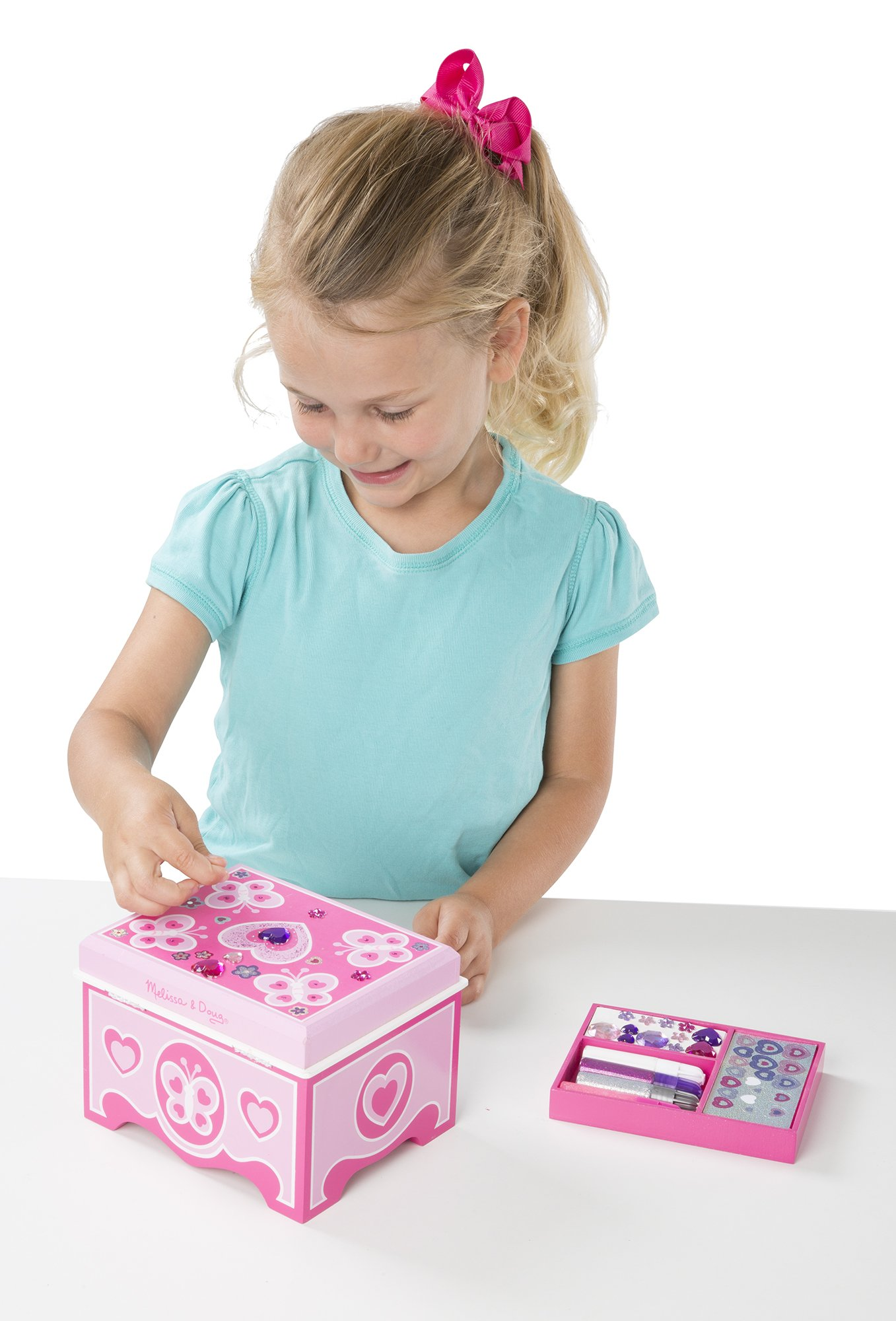 Melissa & Doug Decorate-Your-Own Wooden Jewelry Box Craft Kit by Melissa & Doug (Image #4)