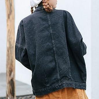Huiwa Womens Denim Jacket BF Denim Jakcet Long Sleeve Jeans Coat at Amazon Womens Coats Shop
