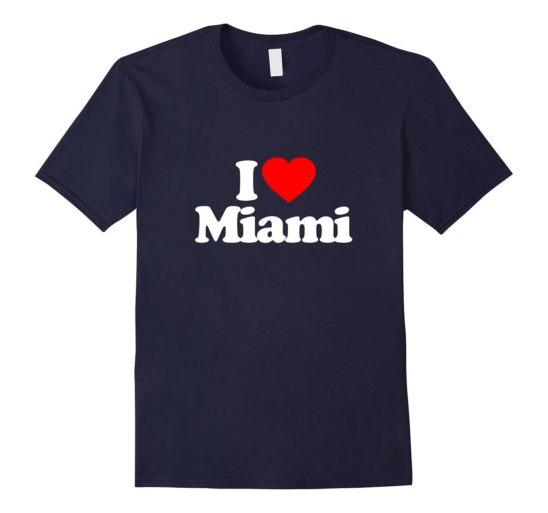 I Love Heart Miami US City Funny T-Shirt-CD