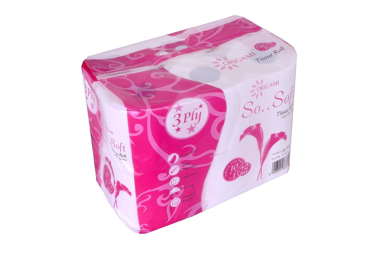 Origami So Soft 3 Ply Toilet Tissue 10+2 Rolls - 100 gm per roll ...