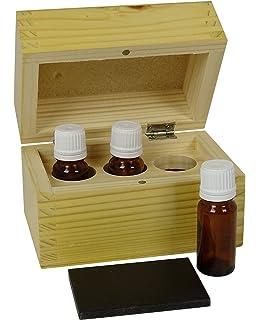 manonmoon caja de madera guardar oro prueba Kit de pruebas de capacidad para 3 botellas y