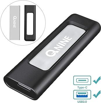 QNINE Extreme Portable SSD 1 TB (Carcasa incluida), SSD USB C para ...