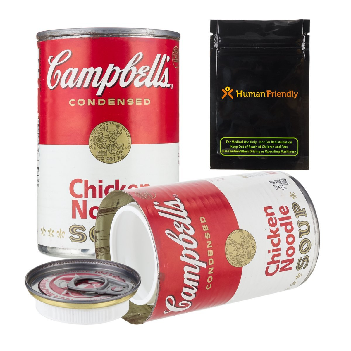 Campbells Soup Diversion Safe Stash Container Can 10oz w HumanFriendly Smell-Proof Bag