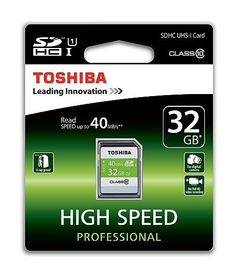 Toshiba SD-T032UHS1(6 - Tarjeta de Memoria SDHC de 32 GB, Clase 10