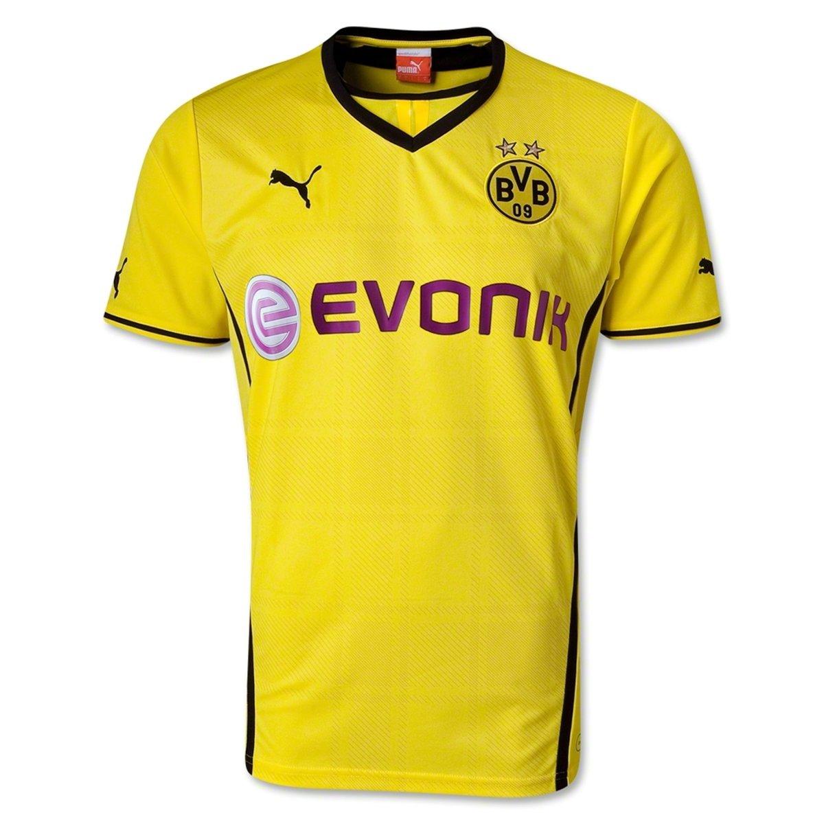 PUMA Mens BVB Borussia Dortmund Home Soccer Stadium Jersey
