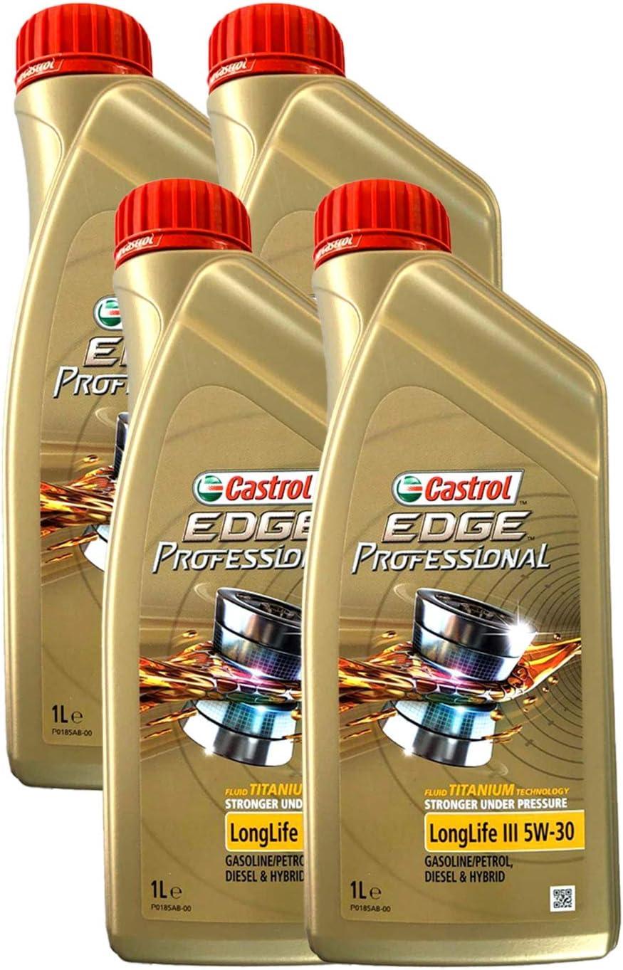 Castrol Edge Motorenöl 5w30 Longlife Iii 4l Englischsprachige Etiketten Auto