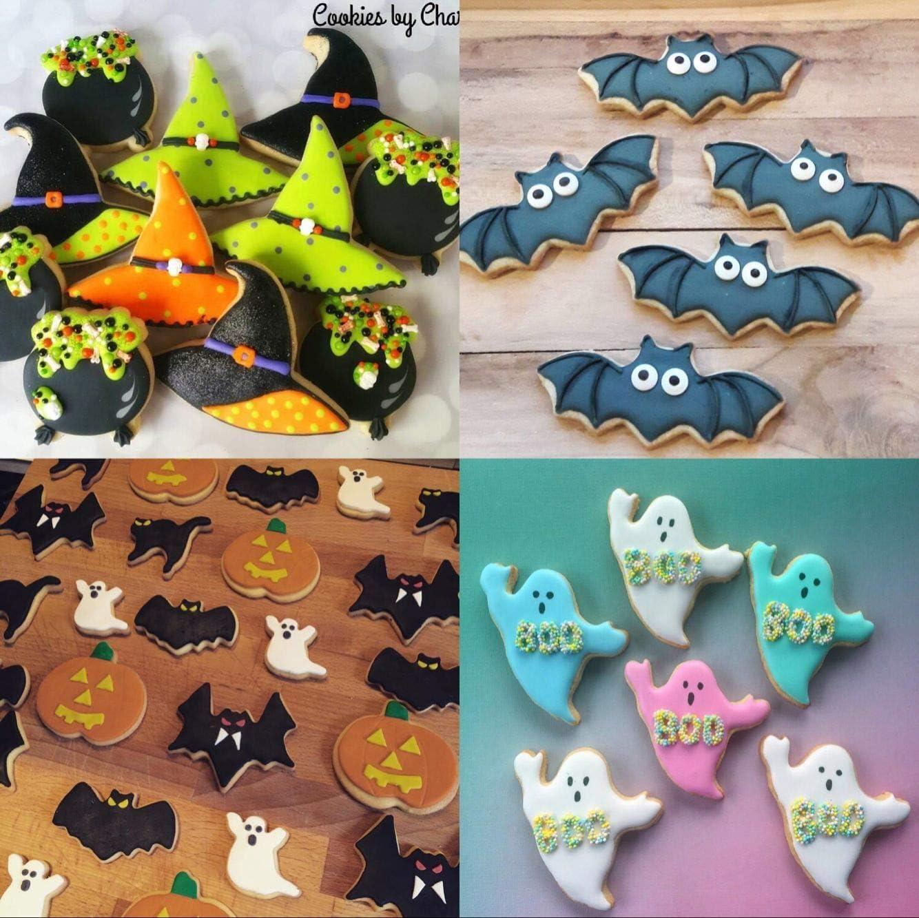 Halloween Pack Cookie Cutters-Crâne-Potiron-Ghost Bat-Sorcière Chapeau