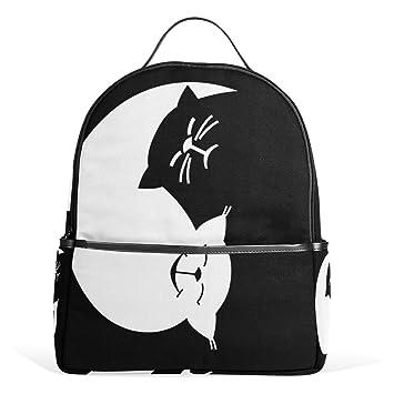 ALAZA Divertido Yin Yang Gatos Mochila para School Bookbag: Amazon.es: Equipaje