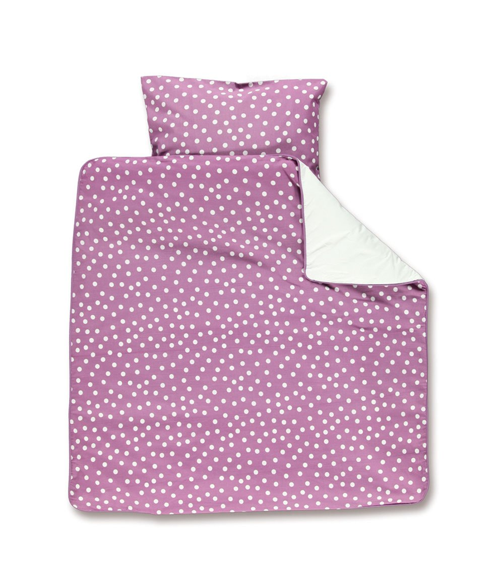 Baby Boum 'Youmi Pruna' Range 100% Cotton Crib Duvet Set (Pruna Purple, 80 x 80cm) 100YOUMI56