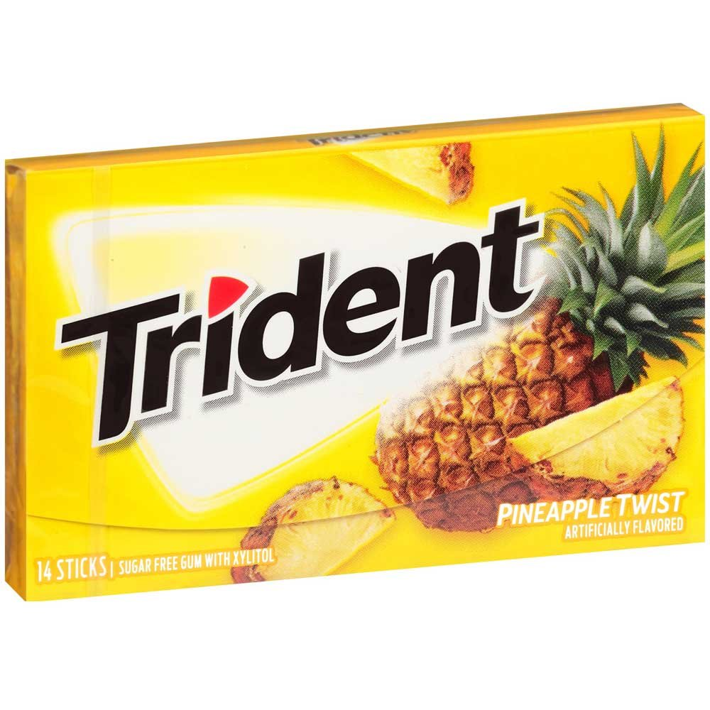 Trident Pineapple Twist Sugar Free Gum, 14 count per pack -- 144 per case. by Trident