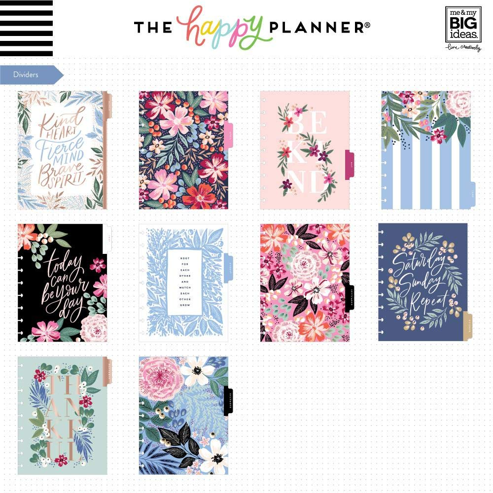 Create 365 ; The Classic Happy Planner ; Garden Blooms ;'' Best Year Ever'' ; 18 Months Dated (July 2019-December 2020) ; Vertical Hourly Layout ; Size: 9.75'' x 8.5''