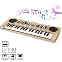 aPerfectLife 37 Keys Kids Keyboard Portable Piano (Gold)