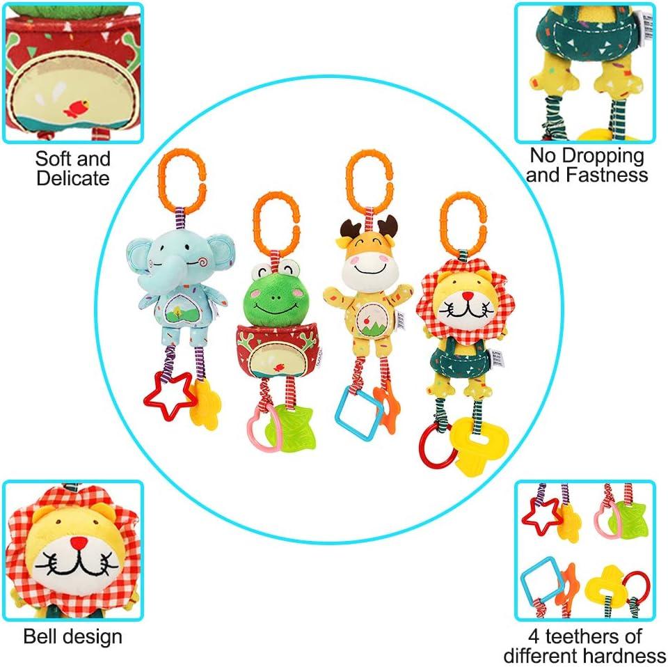 Giocattoli sensoriali CestMall Carrozzina Giocattoli per neonati Lettino Giocattoli sospesi per neonati Clip on Carrozzina e passeggino Giocattoli per neonati Giocattoli a spirale a spirale