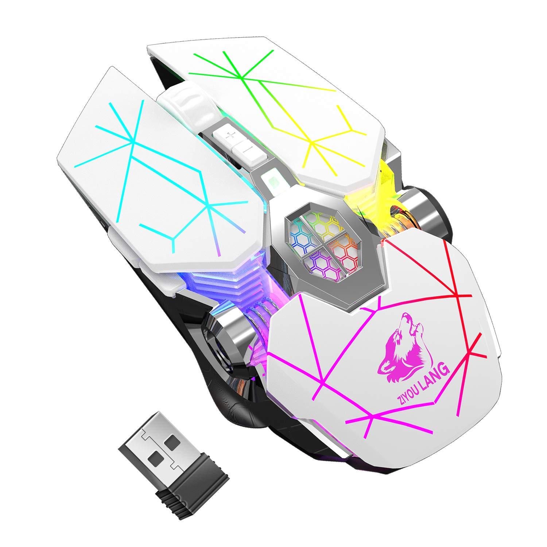 M2 Kabellos Wiederaufladbar Gaming Maus Optische Ger/äuschlos Wireless M/äuse mit Nano Empf/änger 6 Tasten f/ür Mac Notebook Desktop Laptop