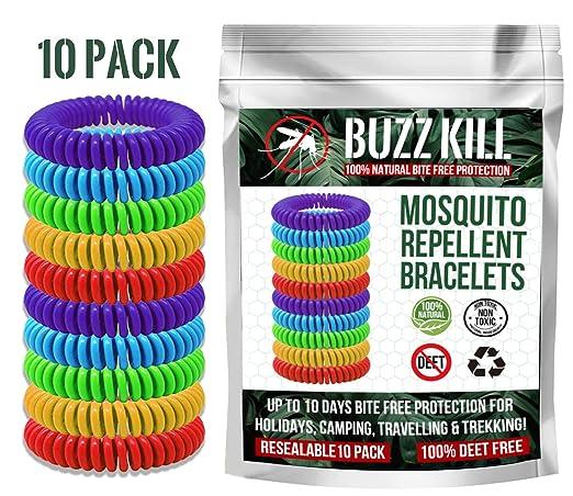 Buzz Kill Pulseras repelentes de Mosquitos, repelentes de Insectos ...