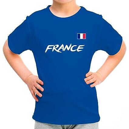 Lolapix Camiseta seleccion de Futbol Personalizada con Nombre y número. Camiseta de algodón para niños