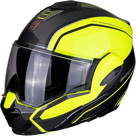 XS Scorpion Casco moto EXO-TECH TIME-OFF Neon Yellow//Silver Nero//Blu//Bianco