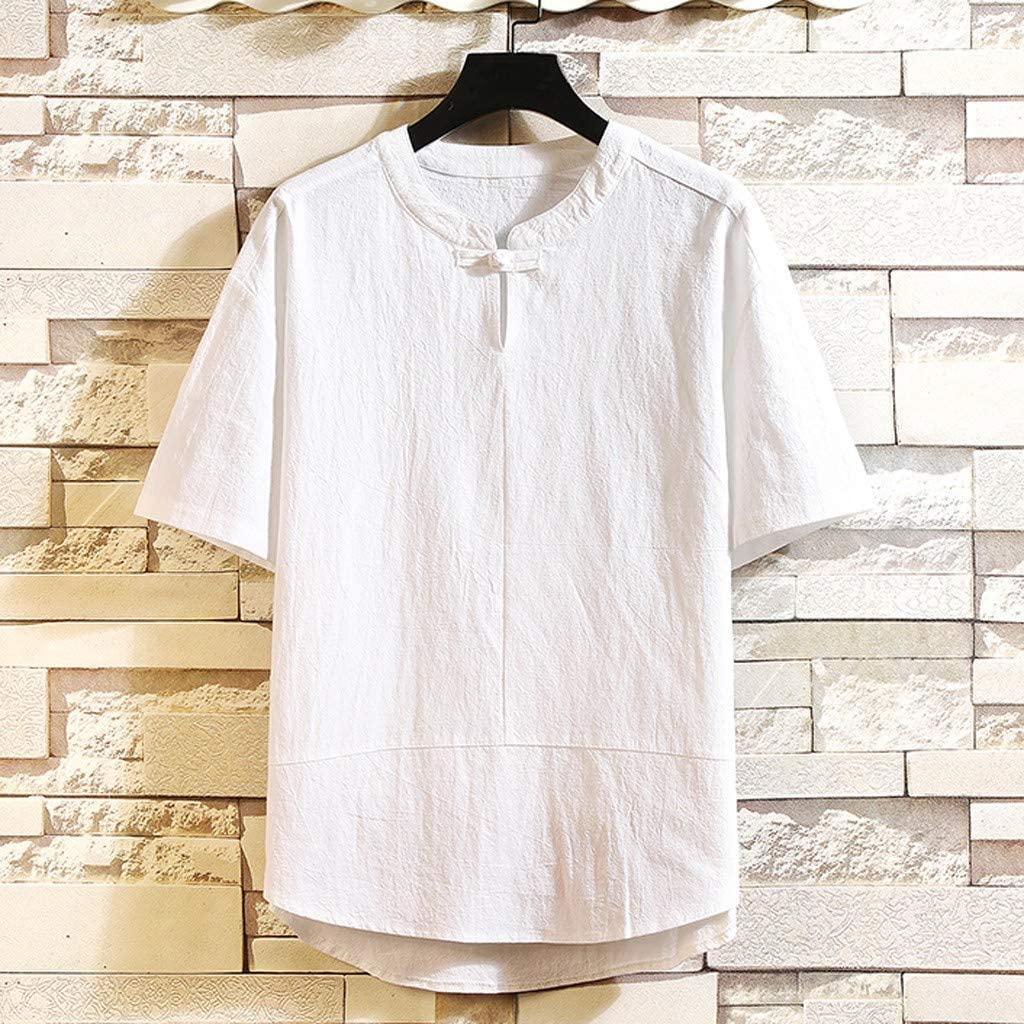 Daily Comfortable Fashion Casual Bsjmlxg Mens New Short Sleeves with Holes in Summer