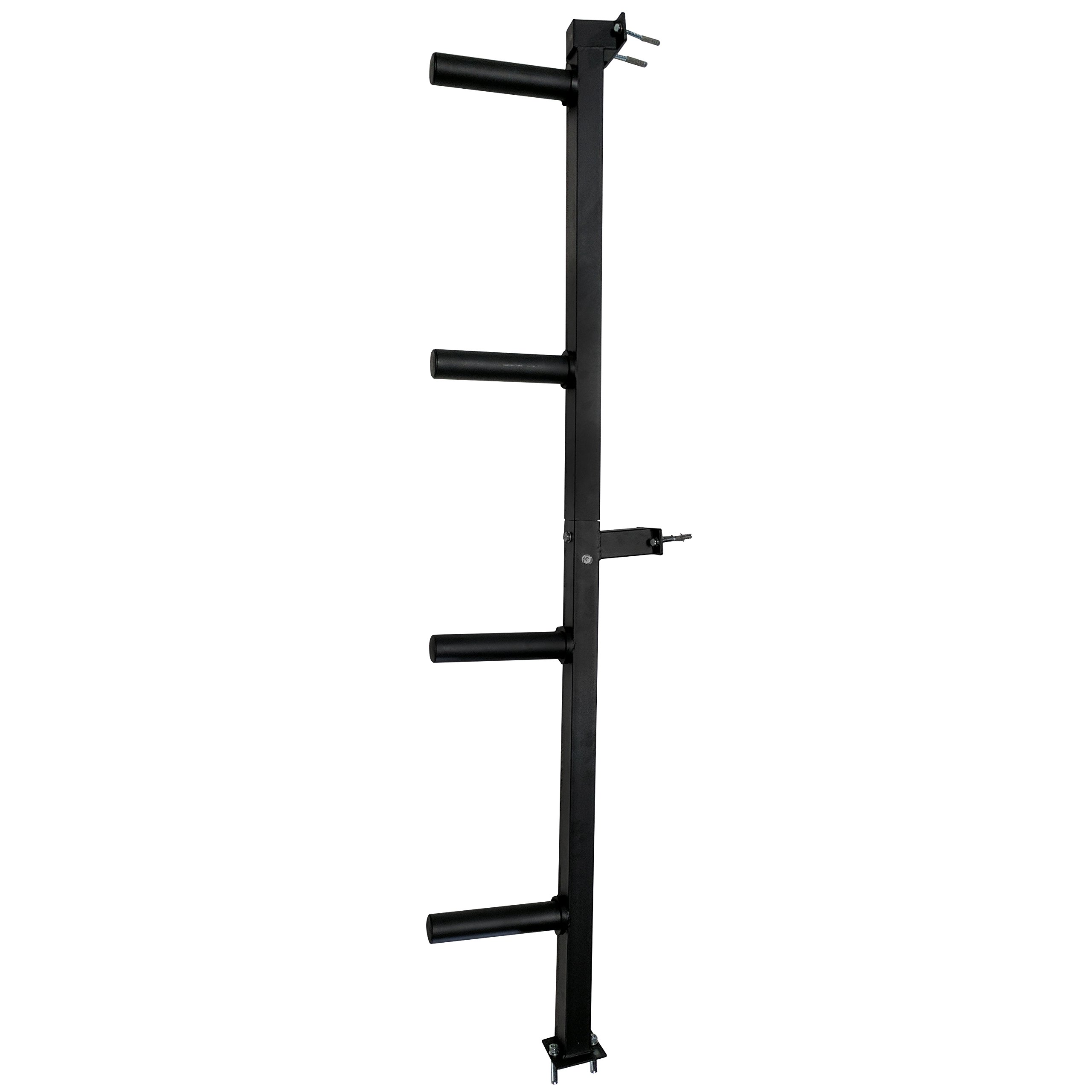 Titan Wall Mounted 4-Peg Olympic Bumper Plate Weight Rack Storage by Titan Fitness