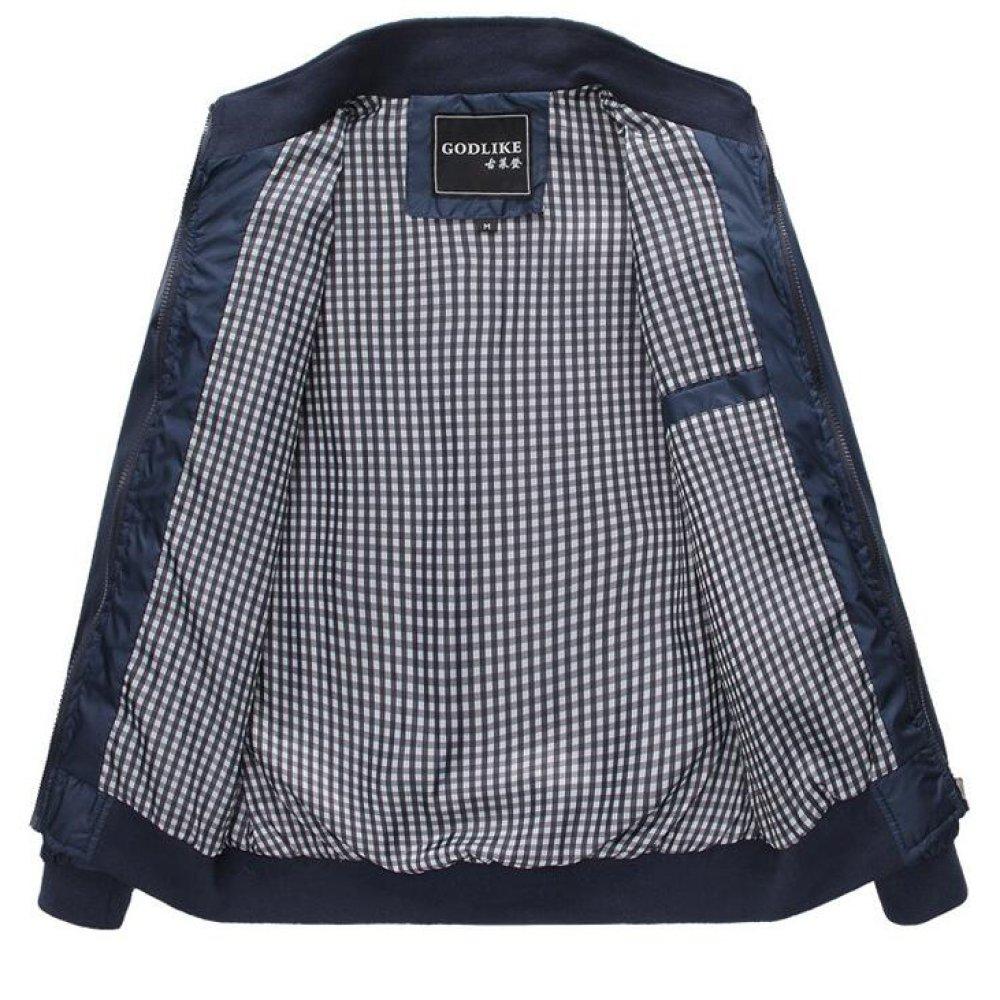 DFUCF Mens Jackets Collar Jackets Long Sleeves Slim Coats Business Casual