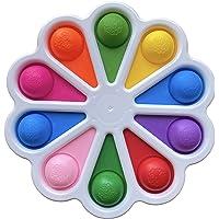 Flower Dimple Fidget Toys, Push Pop it Sensory Toy, Simple Dimple Fidget Toys Stress Reliever Toys Hand Toys for Kids…