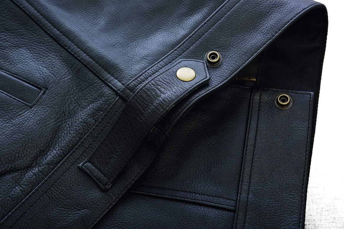 Leatherick SOA Gilet in pelle con bottoni in ottone