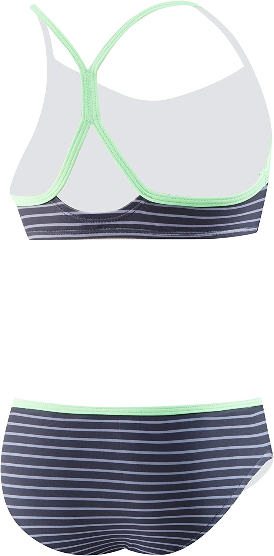 Speedo Girls Diamond Geo Splice 2-pc Swimsuit 7-16