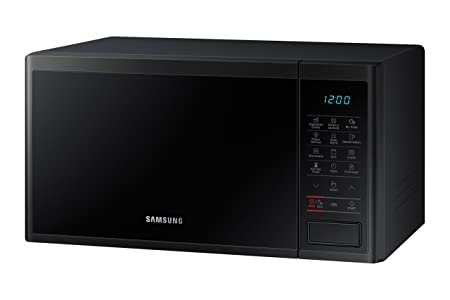 Samsung MG23J5133AK/EC - Microondas con grill, 800W/1100W, 23 litros, interior Cerámica Enamel, color negro mate