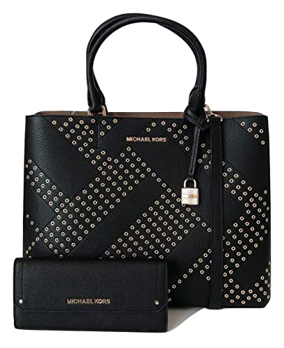 7d19e6933eff MICHAEL Michael Kors Adele Large North South Tote bundled with Michael Kors  Hayes Flat Wallet (