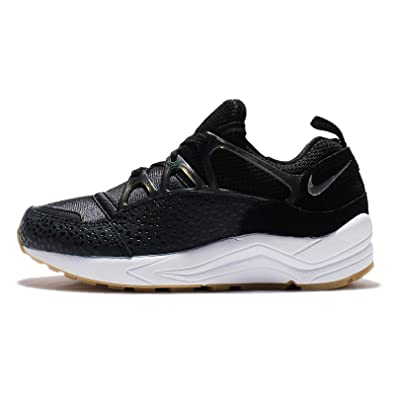 sports shoes e6596 ec926 Image Unavailable. Image not available for. Color: Nike Womens Wmns Air  Huarache Light PRM, BLACK/WHITE ...