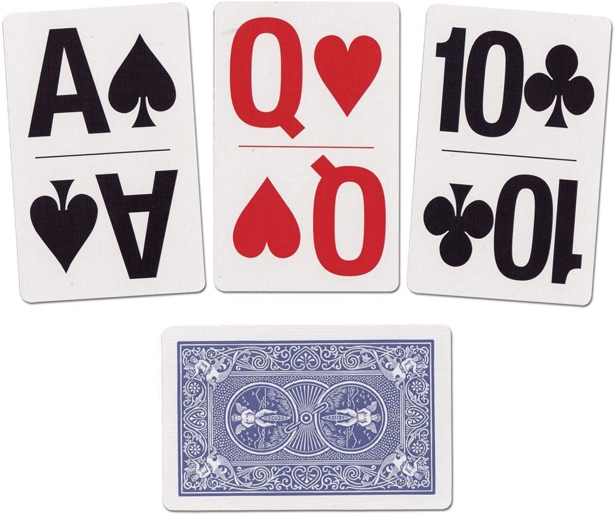 1 Blue Deck Bicycle Bridge Size Large Print Index Easy Viewing Playing Cards