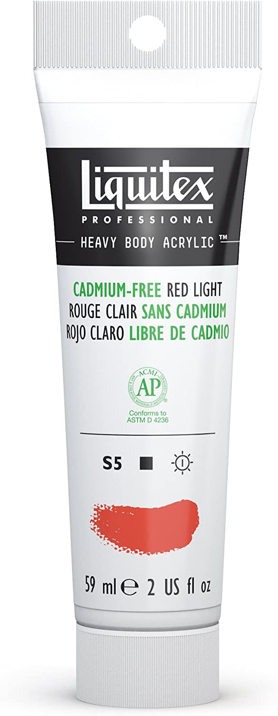 Liquitex Professional Heavy Body Acrylic Paint, 2-oz Tube, Cadmium Free Red Light