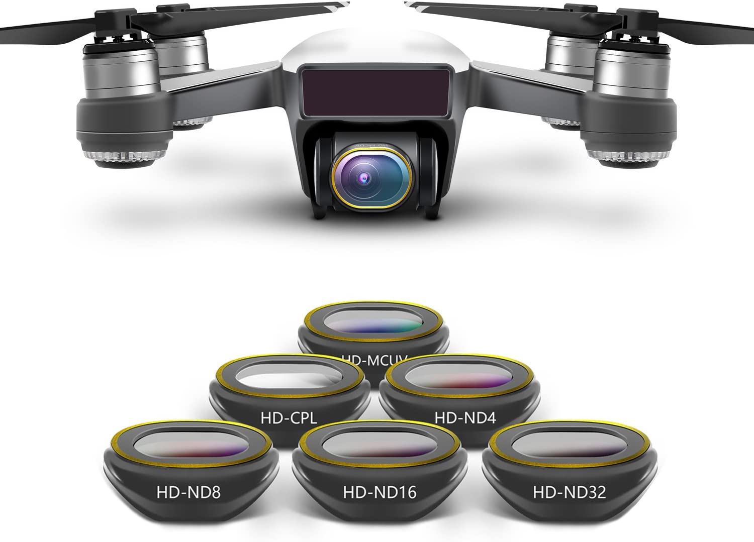 MCUV//CPL//ND4//ND8//ND16//ND32 for DJI Spark Gimbal Camera Lens Filter Combo ND4 ND8 ND16 ND32 MCUV CPL for HD Clear Lens Filte for DJI Spark Drone