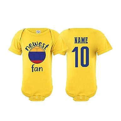 03f9b05b7e083 Amazon.com: nobrand Colombia Bodysuit Newest Fan National Team Soccer Baby  Girls Boys Customized: Clothing