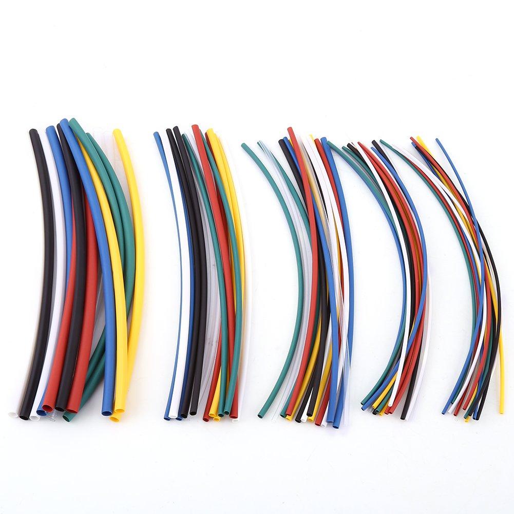 70Pz 2:1 Termorestringente Tubazione Poliolefine 7 Colori Senza Alogeni Termoretraibile Tubo Manica Cavo Kit Walfront RLSB4922