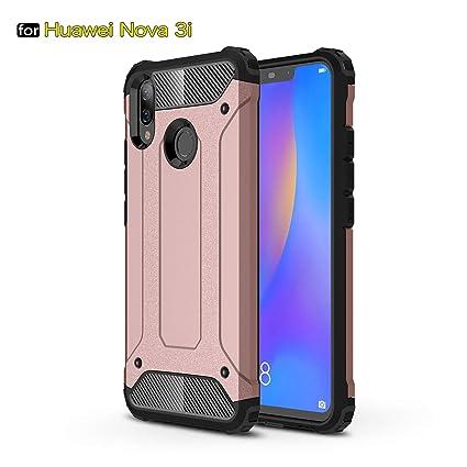 Amazon.com: Huawei Nova 3i Case, SsHhUu TPU + PC Double ...