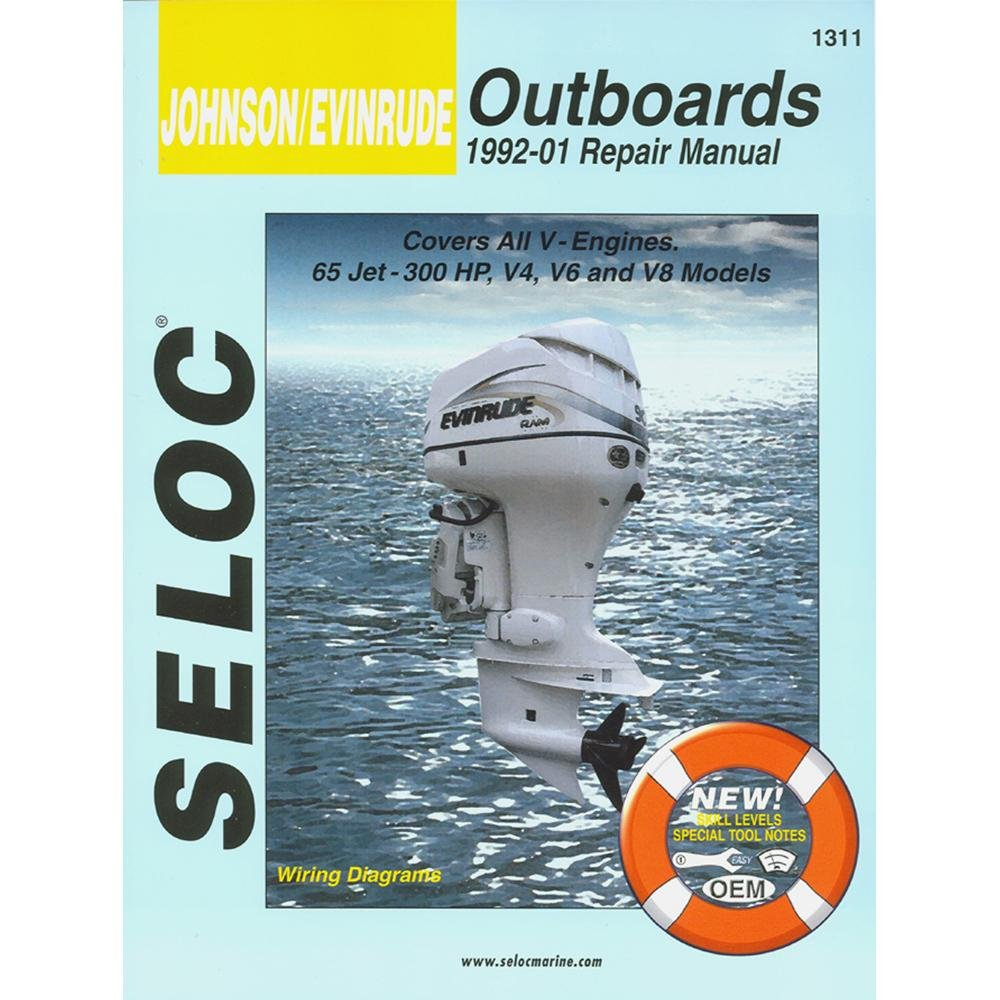 Amazon.com: Seloc Service Manual - Johnson/Evinrude - All V Engines -  1992-01: Automotive