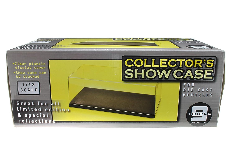 Kunststoffvitrine BOX für 1:18 Modelle beleuchtet black plate