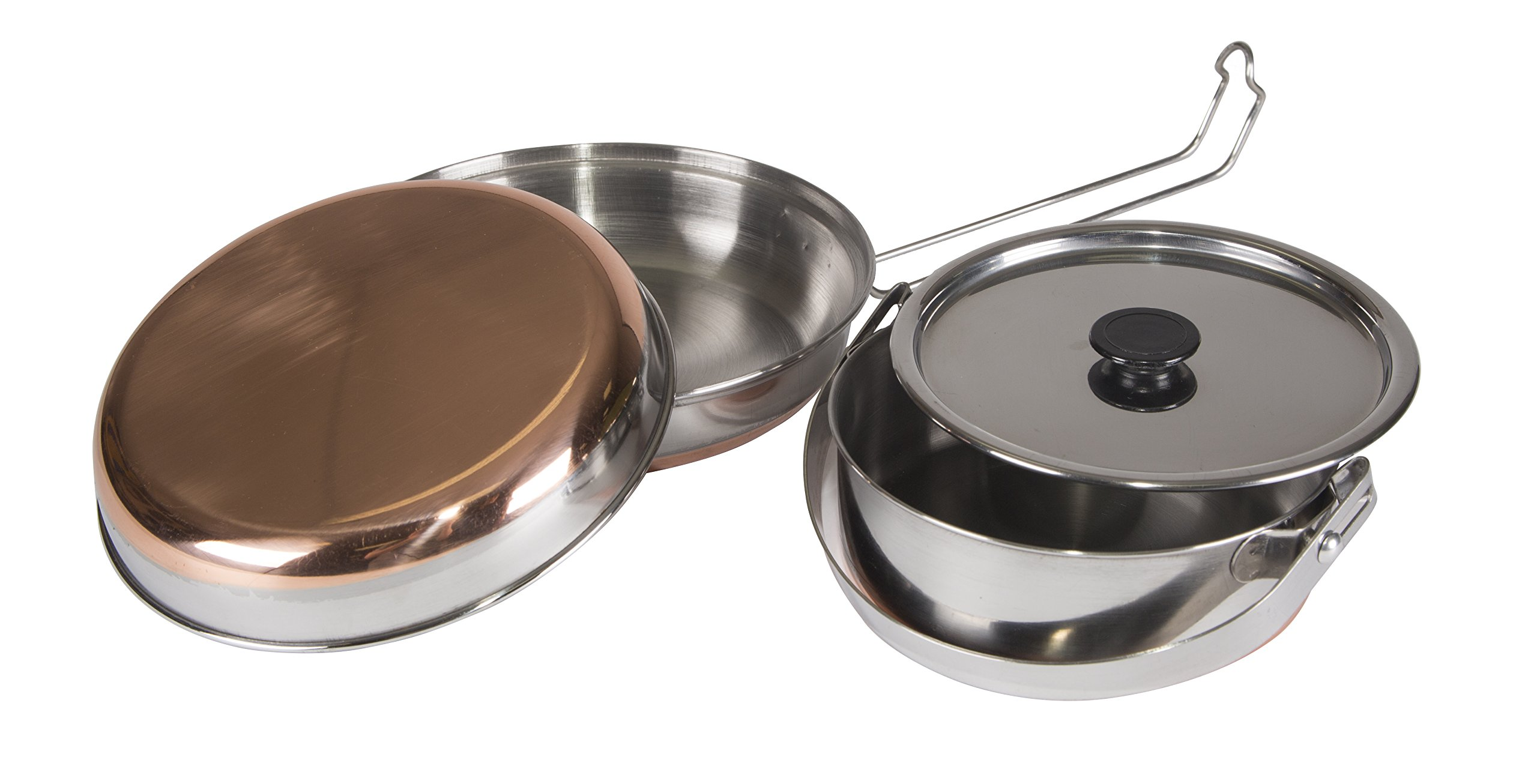 STANSPORT - Stainless Steel Mess Kit for Camping,Backpacking & Outdoors by Stansport