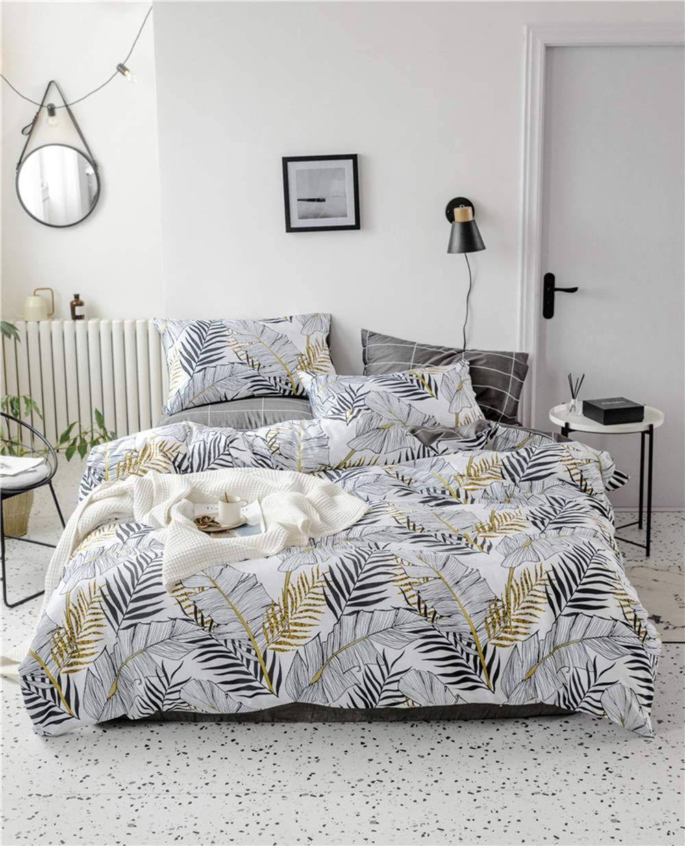 CSYP 新しい綿4ピースコットンシンプルで新鮮な寝具シーツキルトカバー (Color : Brass) B07Q7GZ4DB