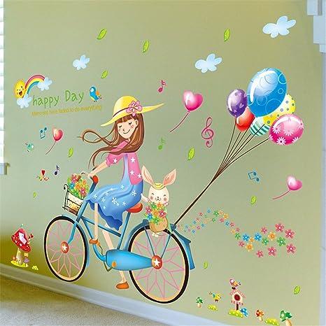 ZLYAYA Papel pintado,Pegatinas de pared,Sexo chica color globo ...