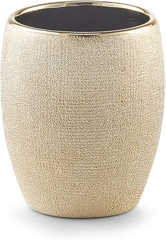 8.1/x 8.1/x 9,80/cm Zeller 18751/Portacepillos Glitter Rose Oro Loza