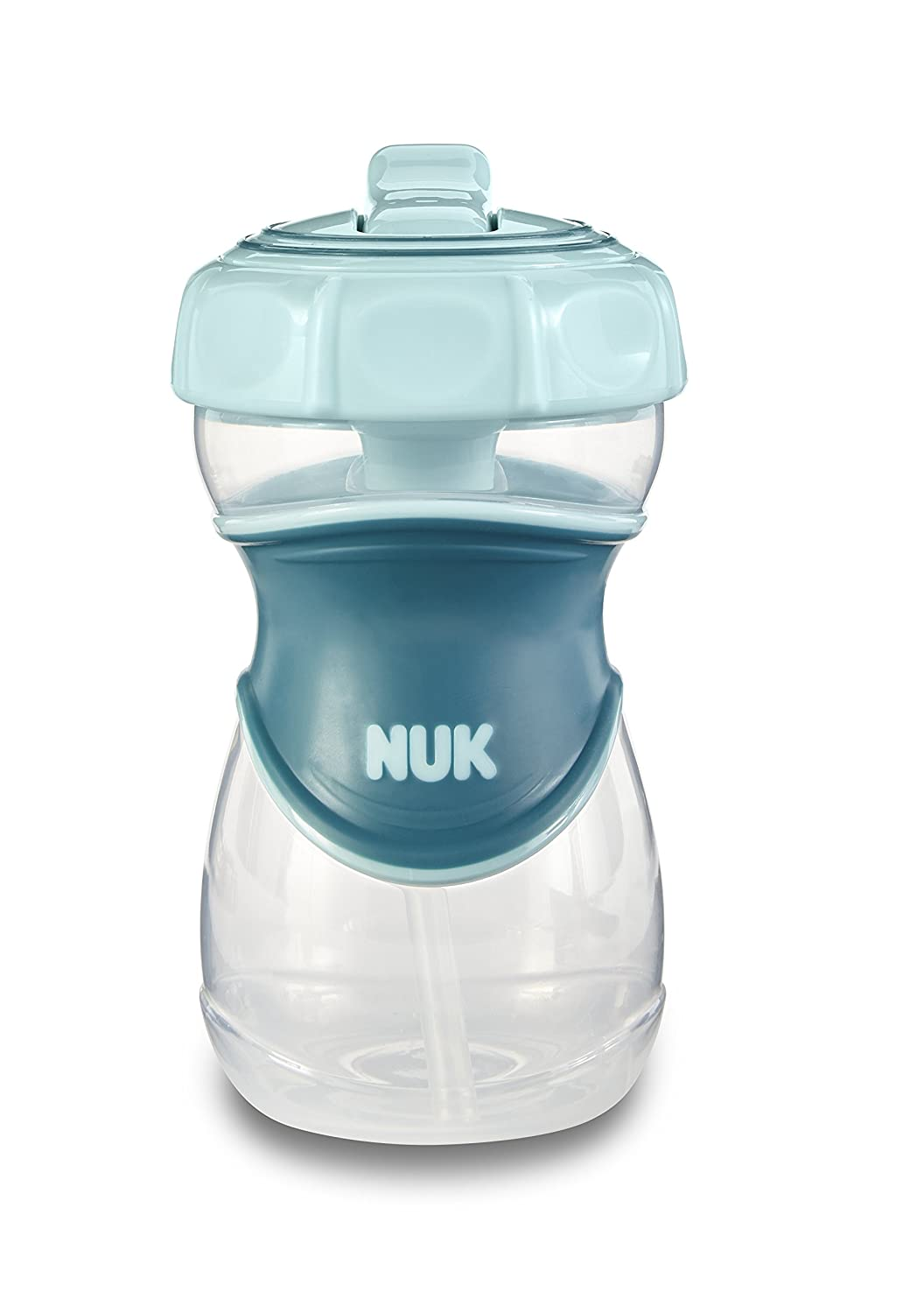 NUK Everlast Straw Sippy Cup, Blue, 10oz 1pk