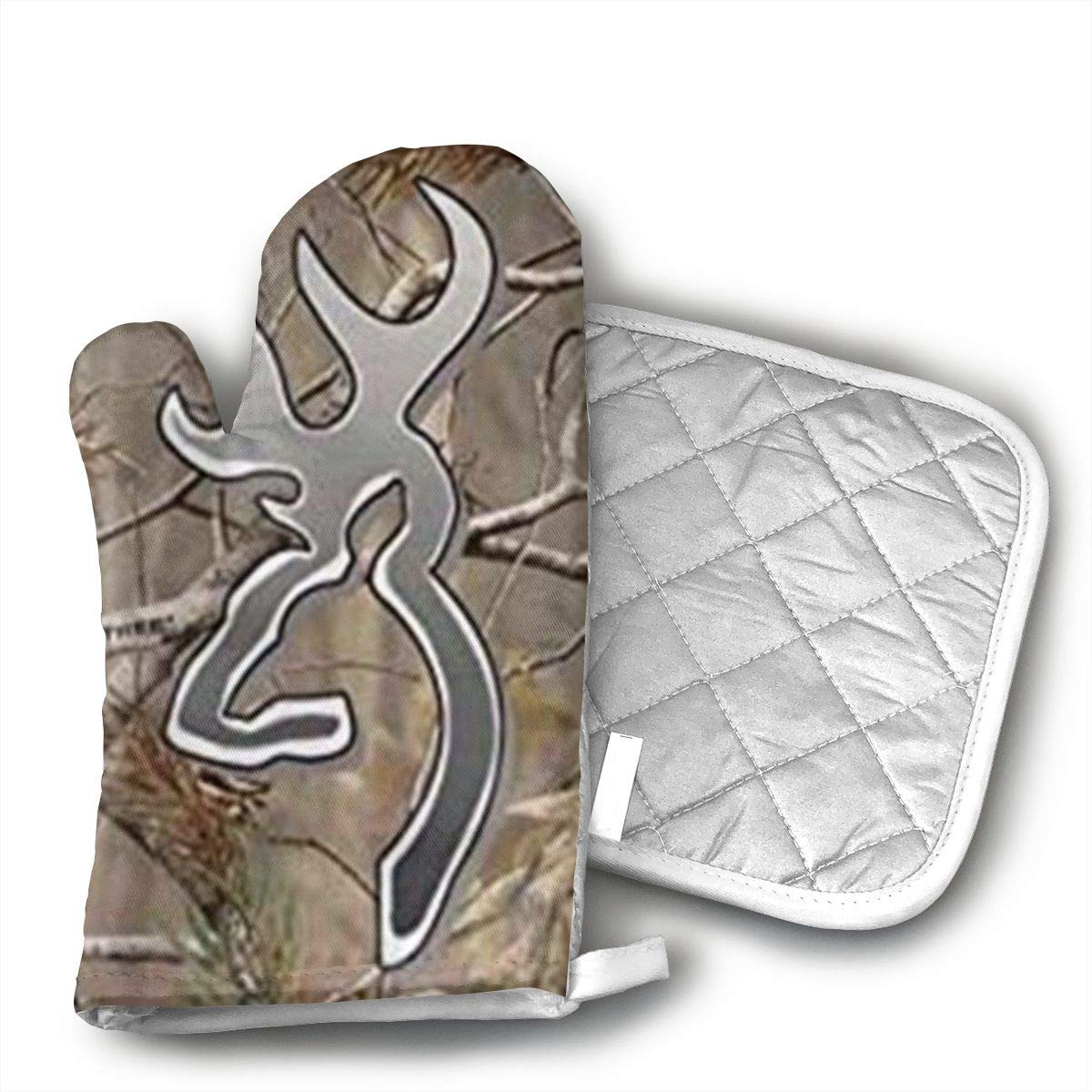 Camouflage Realtree Kitchen Potholder - Heat Resistant Oven Gloves to Protect Hands and Surfaces with Non-Slip Grip,Ideal for Handling Hot Cookware Items.