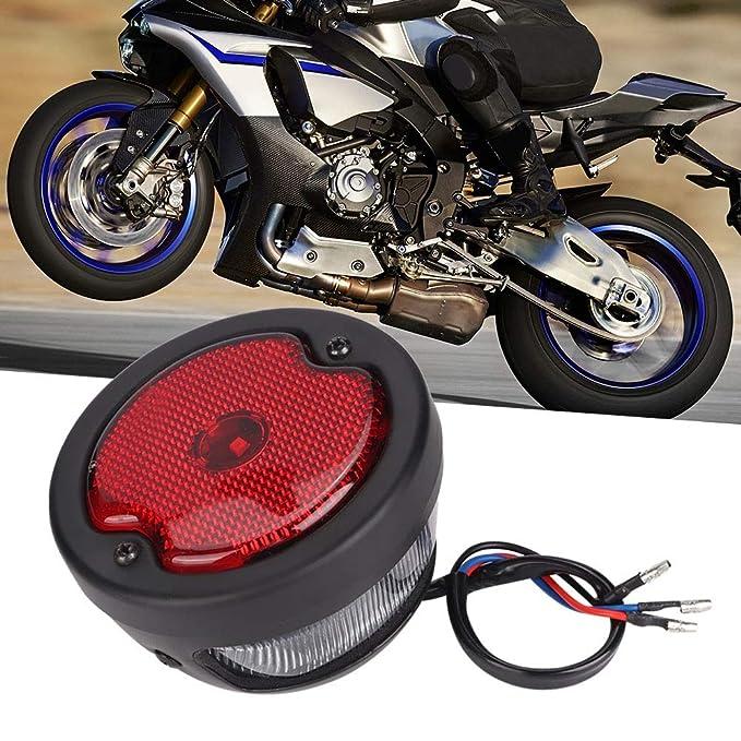 Pasamer Motocicleta Retro LED Piloto Trasero Indicador de luz ...