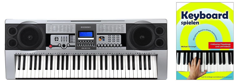 Großes Einsteiger-Keyboard in Stage Piano-Optik im Set mit Ständer und Hocker