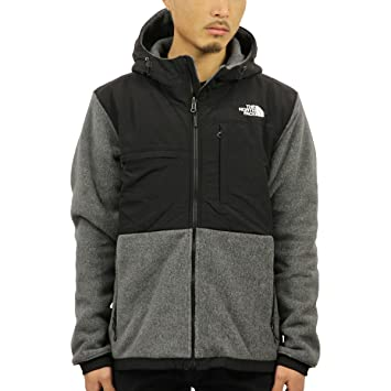 b31c353c2dbf The North Face Denali 2 Hoodie Jacket - Men s Recycled Charcoal Grey  Heather TNF Black Large  Amazon.ca  Sports   Outdoors